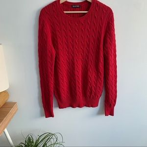 American Apparel-Red Knit Sweater